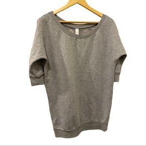 Plush & Lush  Gray lace back Sweatshirt